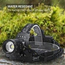 Rechargeable Headlamp T6 Zoom Headlight Waterproof Head Lamp Torch Flashlight XHP70 LED Head Lamps Use 2*18650 Battery #F5