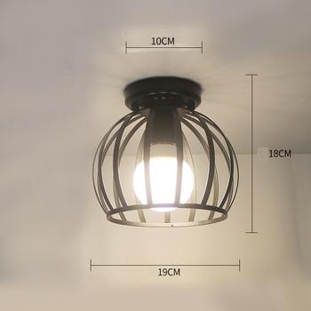 Ceiling lights Minimalist Retro Ceiling Lamp Glass E27 industrial decor  lamps for living room Home Lighting Lustre Luminaria 15