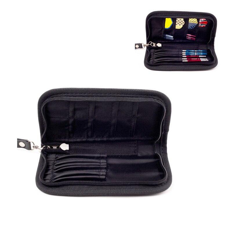 1 Set Darts Carry Case Accessories Large Capacity Wallet Pockets Holder Storing Bag Black Durable Hs