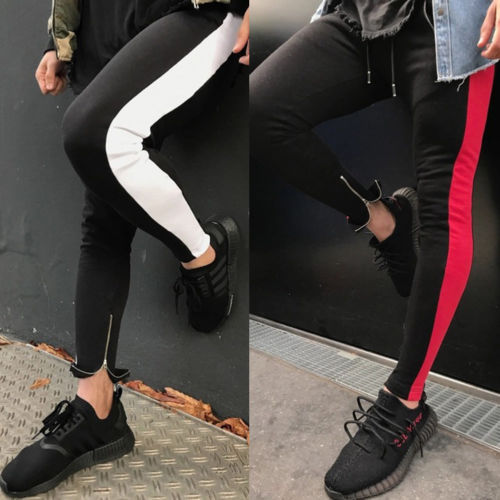 New Men Pants Long Trousers Casual Fitness Workout Long Pants