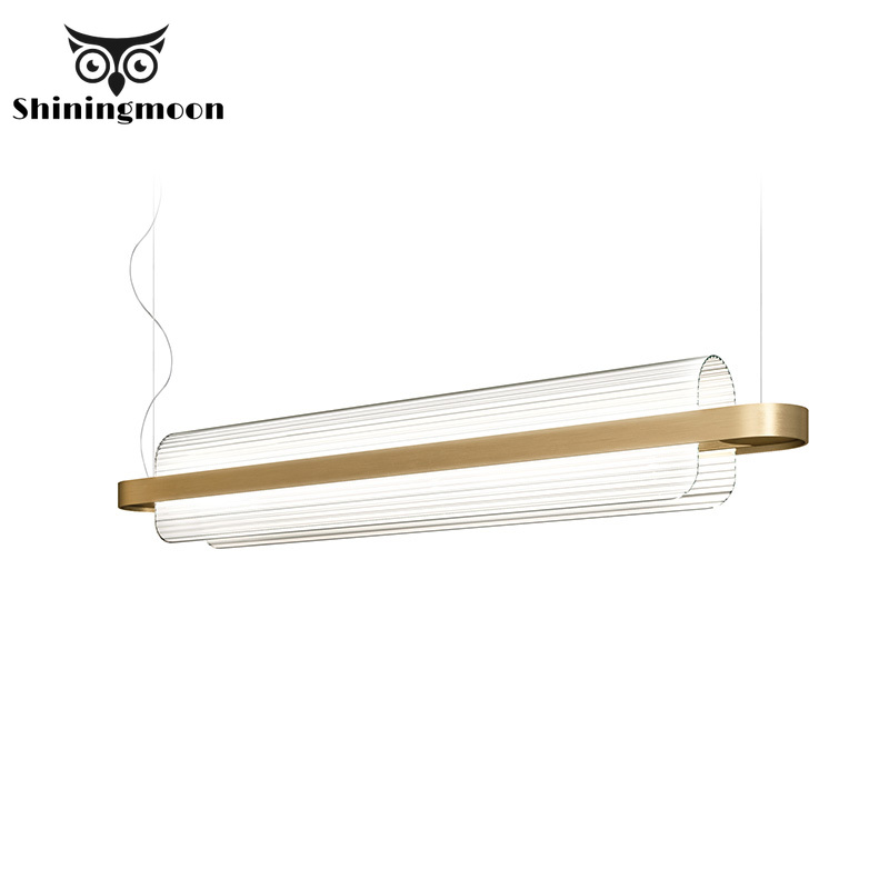 Nordic Luxury Design Glass Golden Pendant Lights Crystal Industrial Pendant Lamp Parlor Hotel Hall Deco Hanglamp Luminaria