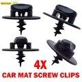 4 шт. крепежные зажимы для напольного коврика для VW Audi Seat Skoda винты с овальным отверстием Поворотный замок крепление с пряжкой крепление пере...