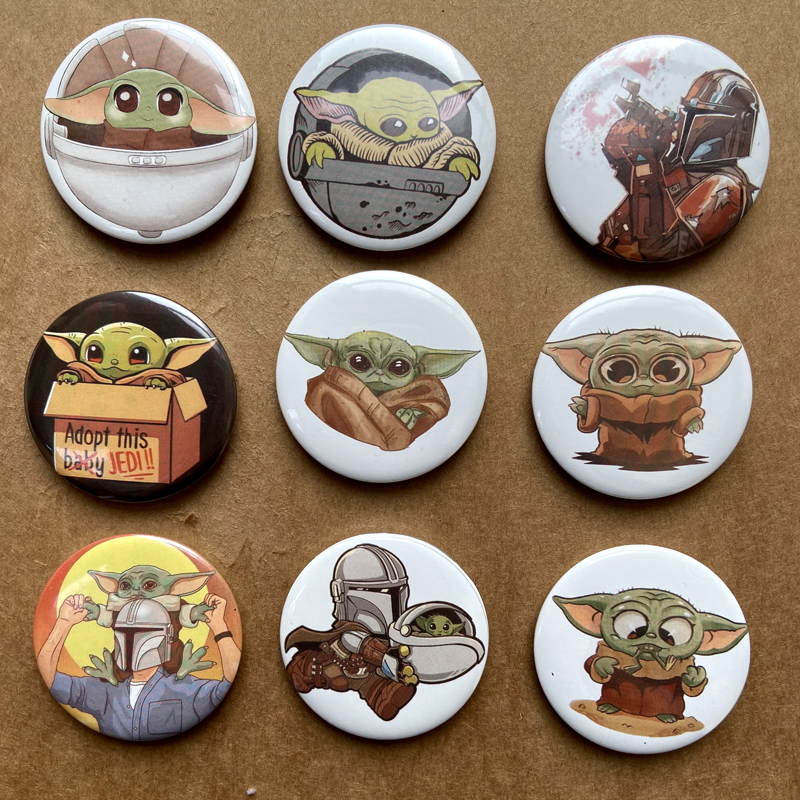 3D Print The Mandalorian Yoda Baby Icons Badge Custom Brooches On The Bag Clothing Decoration Brooches For Kids
