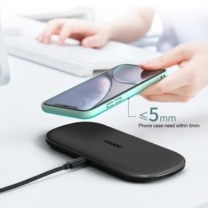 Image 5 - CHOETECH Caricatore Senza Fili 15W Per il iPhone X XS MAX XR Pieno carico 5 Bobina 2 in 1 Veloce Qi caricatore senza fili per Airpods samsung Nota 9