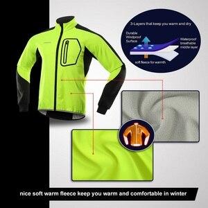 Image 3 - Bergrisar, Мужская зимняя велосипедная куртка, комплект, ветрозащитная, водонепроницаемая, термальная спортивная одежда, велосипедные штаны, велосипедные костюмы, одежда Bg011zy