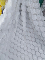 white colour and black colour special design beautiful appliqued french lace fabric 5yards mesh lace for party dress AX