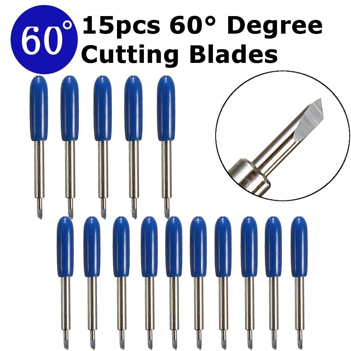 15Pcs/Lot 60 Degree Vinyl Cutter Blades Plotter Cutter Knife Cemented Carbide Blade For Vinyl Cricut Cutting