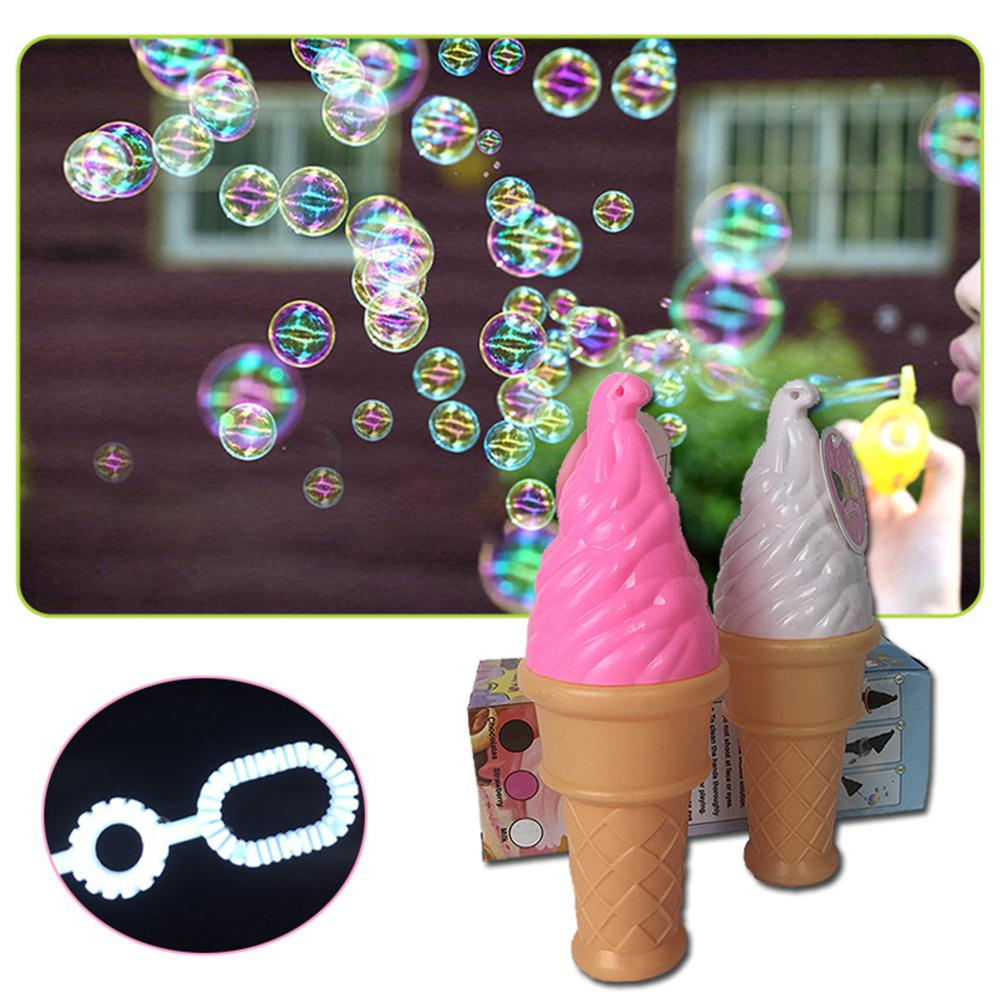 Kuulee 1 Pcs Bubble Maker Colorful Ice Cream Bubble Water Bottled Bubble Stick Outdoor Game Random Color Child Interesting Toys