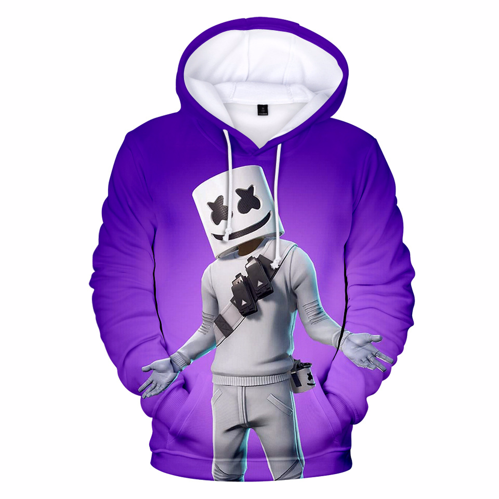 DJ Hoodie Sweatshirt Pullover Cool Printed Marshmellow Fashionable Unisex Women's Doctom3d
