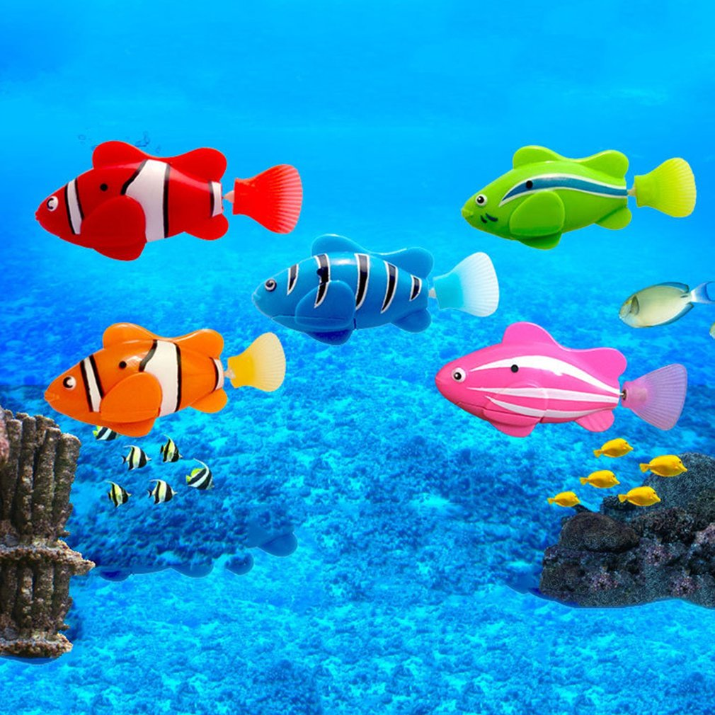 Mini Bionic Fishing Toy Magical Le Bao Fish Underwater Electric Swimming  World Deep Sea Electronic Sensing Fish Baby Bath Gifts