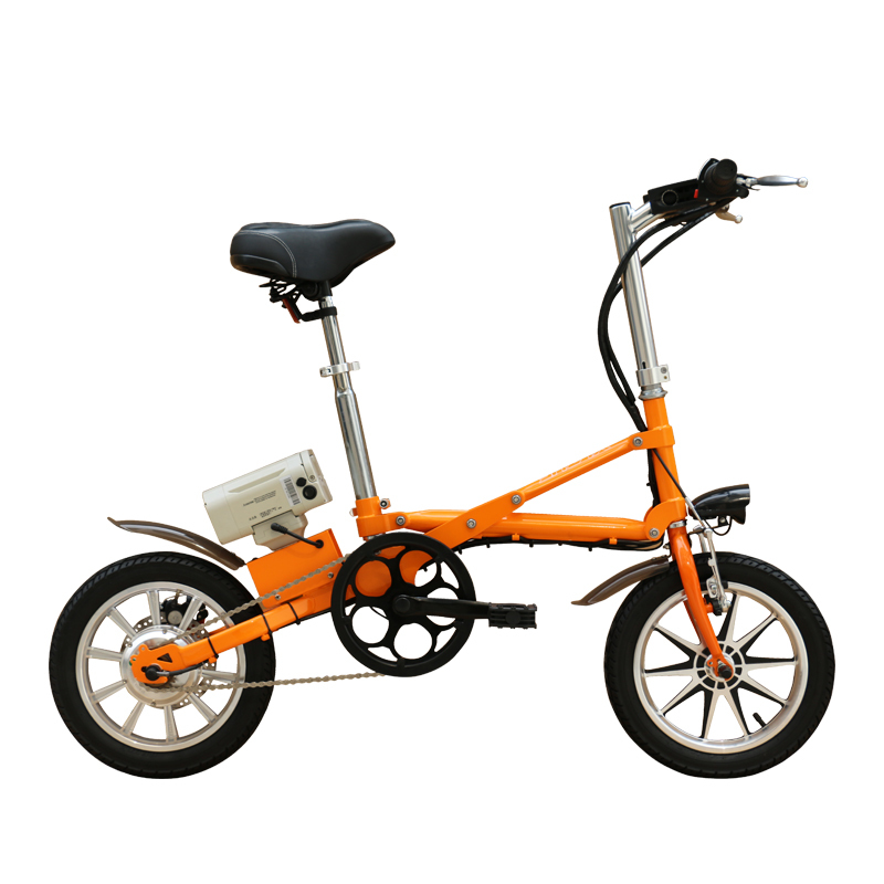 36V250W 14 inch folding electric bicycle with lithium battery brushless motor ebike 2