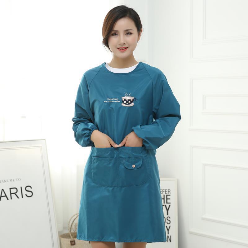 Ev ve Bahçe'ten Kol Kılıfları'de Mutfak pişirme önlük moda yetişkin kıyafetler uzun kollu önlük su geçirmez yağa dayanıklı önlük erkekler ve kadınlar iş elbiseleri title=