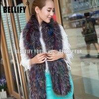 Fashion Winter Fur scarf For women Elegant Style Luxury Genuine Fox Fur shawls Wraps Wholesale female scaves