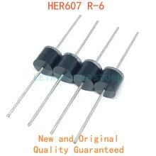 20PCS HER607 R-6 P600 6A 800V Fast diodo da recuperaã