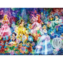 5D DIY full Square/Round Drill diamond painting Cross stitch Disney Princesses 3D Rhinestone embroidery Home Mosaic decor gift(China)