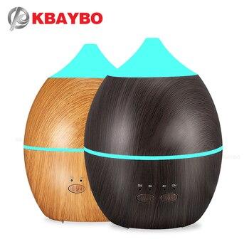 300ml usb ultrasonic aromatherapy diffuser wood grain ultrasonic cool mist humidifier for office home bedroom living room KBAYBO 300ml Humidifier Aroma Diffuser Aromatherapy Wood Grain Essential Oil Diffuser Ultrasonic Cool Mist maker for Office Home