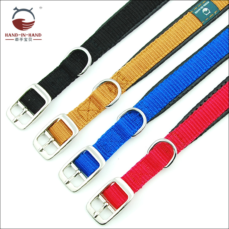 Hand-in-hand Pet Supplies Pet Collar Large Dog Collar Dog Supplies Webbing Foam Neck Band