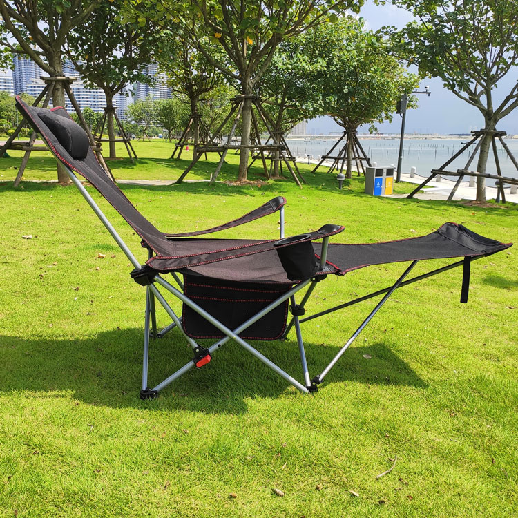 Outdoor Folding Chair Recliner Nap Bed Lunch Break Chair Portable Leisure Back Fishing Chair Camping Beach Lounger
