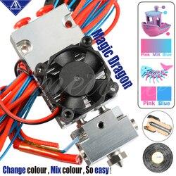 Mellow Nf-Dragão Mágico Derrotas E3d Quimera E Cyclops Multicolor Hotend 2 Em 1 Fora Ou 2 Out Dupla peças de Impressora extrusora Para 3D