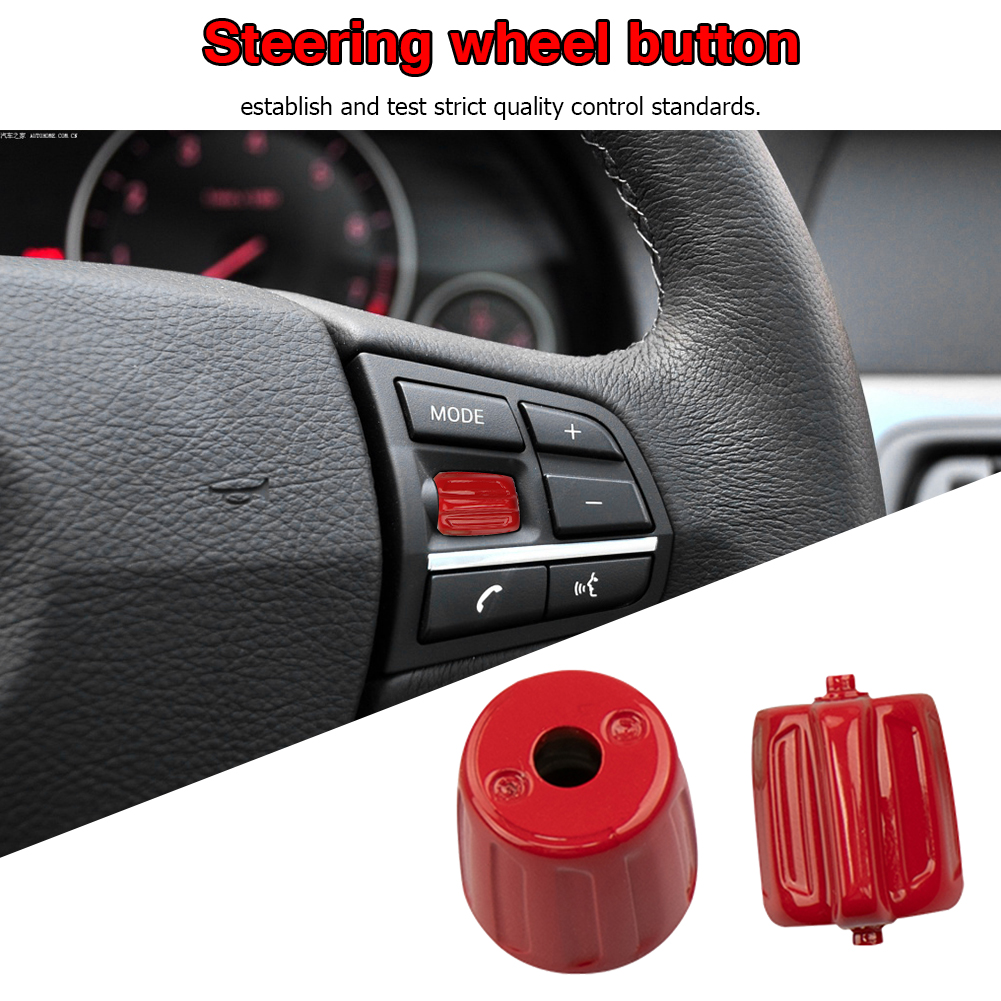 2pcs Left and Right Steering Wheel Switch Buttons Plastic Precise Fit Multifunction Durable for BMW 5/7 Series GT F10 F02