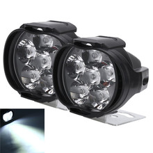 2 Pcs Car Motorcycle LED Light Waterproof 8W Off Road Lamp Spotlights Headlight  for External