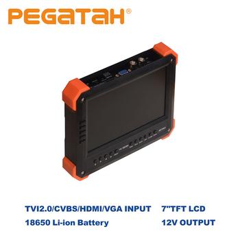 Kamera Tester kamery monitoringu 7 cal Tester kamery monitoringu wideo tester AHD ip VideoTester mini ahd Monitor 4 w 1 z VGA wejście HDMI kamery bezpieczeństwa tanie i dobre opinie PEGATAH Ue wtyczka 7 inch TFTLCD 206 155 39mm 800 480