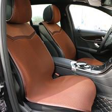 Siatka powietrzna 3D pokrycie siedzenia samochodu dla samochodów oddychająca peleryna Auto lato fajne pojedyncze przednie siedzenia poduszki chronić wnętrze samochodu