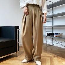 Женские длинные брюки с завышенной талией на липучке новые корейские