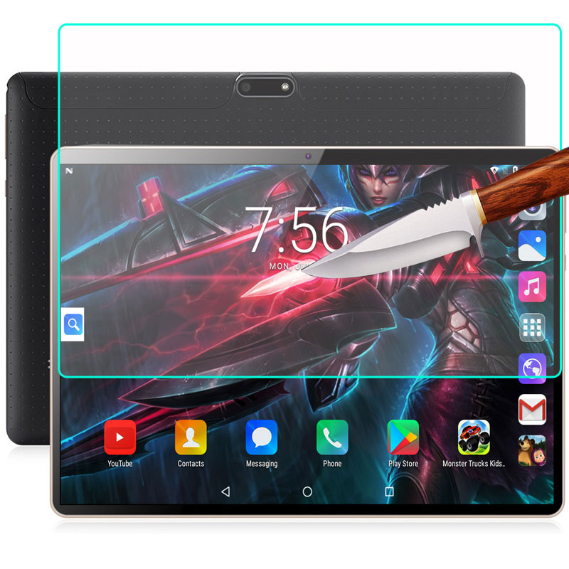 Myslc tempered glass for BDF <font><b>10</b></font> inch Original 3G Call SIM card Android 7.0 MTK 6753 Quad Core tablet+screen wipes image