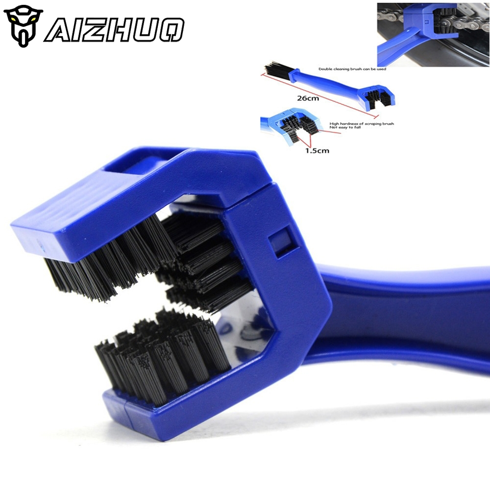 Universal Motorcycle Bike Chain Maintenance Cleaning Brush For <font><b>Yamaha</b></font> XJ6 DIVERSION <font><b>XJR</b></font> <font><b>1300</b></font> XSR 700 900/ABS YZF R1 R6 FZ1 FAZER image