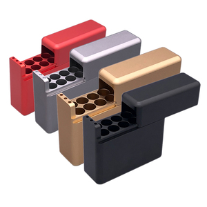 Protective Sleeve Aluminum alloy Cigarette Case For IQOS 12 Holes 18 Holes Cigarette Storage Box Holder Case(China)