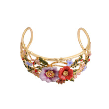 Fashion Statement Adjustable Flower Bracelets Bangles for Wo