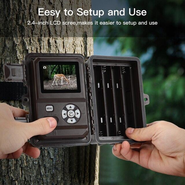 BOBLOV 30MP ghost hunting camera Photo Traps Night Vision Infrared Trail Hunter Camera WildKamera Deer Hunting Camera 1080P 3