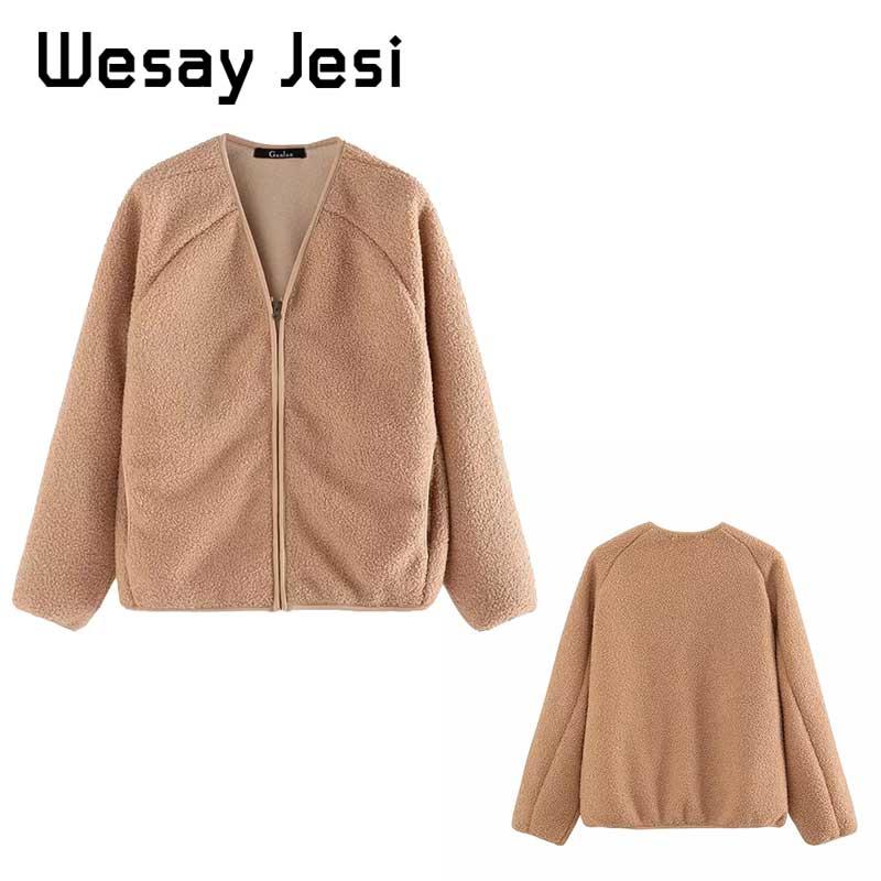 2019 New Women Autumn Winter Coats solid Harajuku full-sleeve Hooded jacket warm Vintage Pocket Female Outwear casual coat women