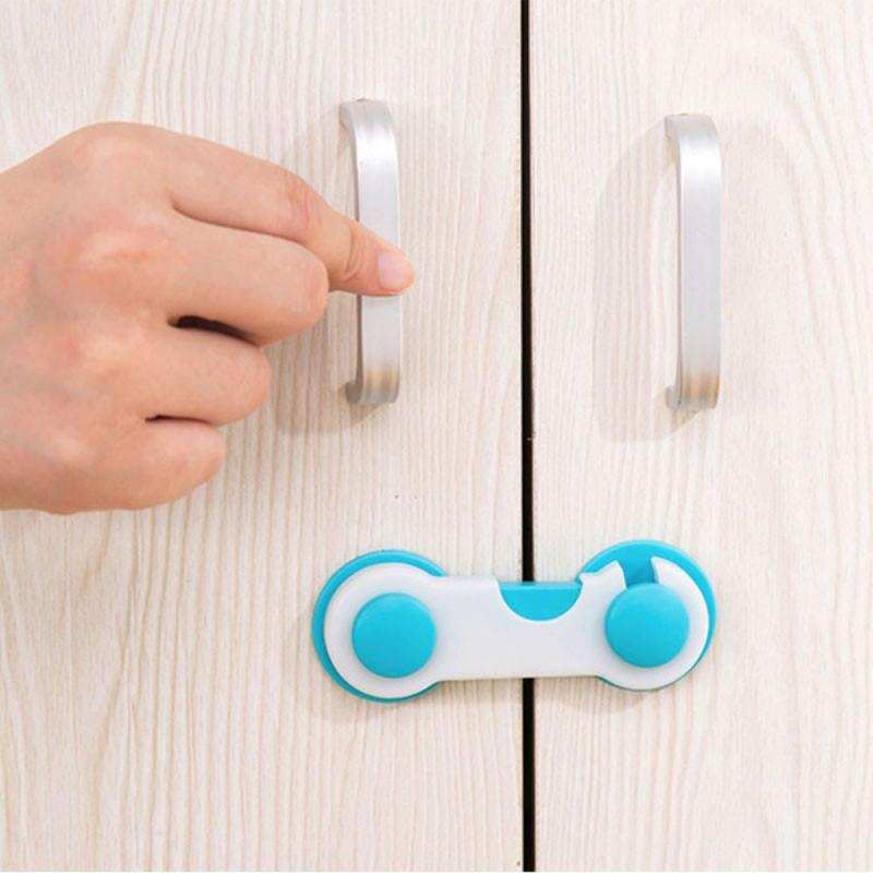 2/5/10Pcs/lot Multi-function Child Baby Safety Lock Cupboard Cabinet Door Drawer Safety Locks Straps Children Security Protector