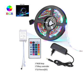 RGB LED Strip 15M 20M Led Light Tape 5050 SMD 5M 10M DC 12V Waterproof RGB LED Lamp Diode Ribbon Flexible Controller+Adapter EU image