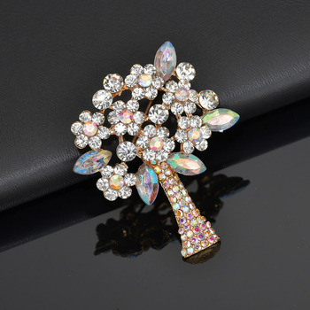 Broches de árvore de pedra do vintage para as mulheres grande terno elegante vestido broche pino moda jóias acessórios de festa presente