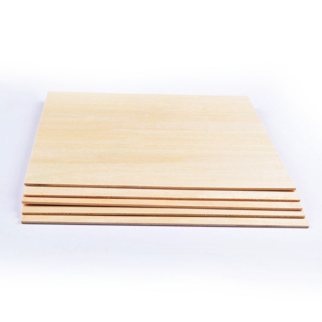 5pcs 200x200x2mm Unfinished Craft Basswood Wooden Sheets For DIY Model Making & Crafts