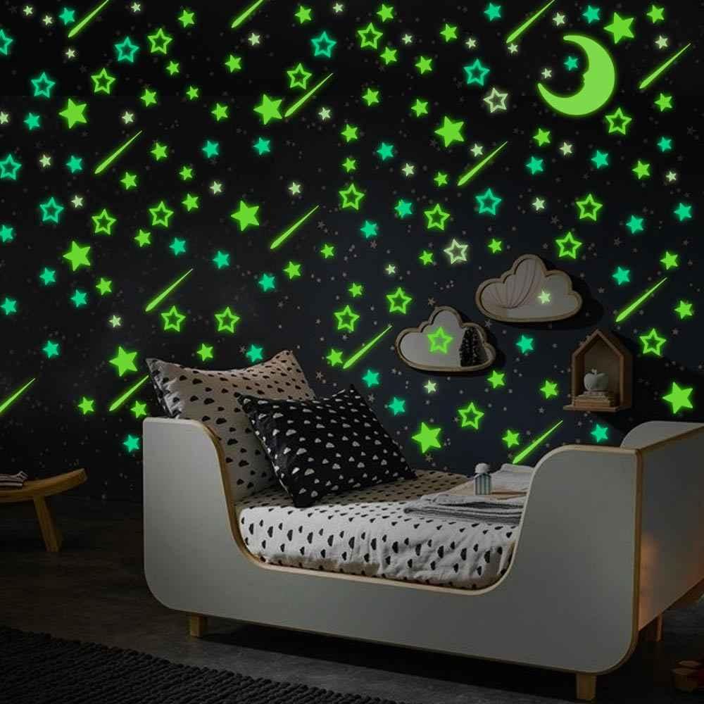 Dktie 3D Lichtgevende Muurstickers Lichtgevende Stickers In De Donkere Kleur Fluorescerende Stickers Kinderkamer Plafond Kamer Decoratie
