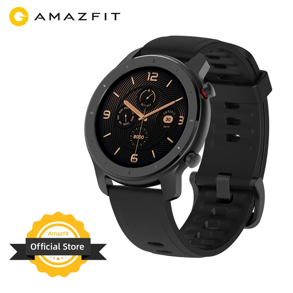 In Stock Global Version New Amazfit GTR 42mm Smart Watch 5ATM Smartwatch 12Days Battery Music Control For Android IOS