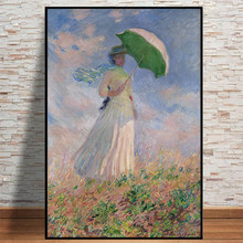 Oil Canvas Painting Prints Home Decoration Wall Art Pictures French Claude Monet Women Nordic Watercolor Poster Living Room