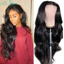 Парики на сетке с застежкой тела, бразильские парики из человеческих волос, плотность 150%, волосы без повреждений, предварительно выщипанные...