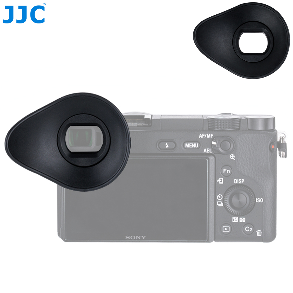 JJC Camera <font><b>Eyecup</b></font> Soft 360 Degrees Viewfinder Eyepiece For <font><b>Sony</b></font> A6100 A6300 <font><b>A6000</b></font> NEX-6 NEX-7 Replaces <font><b>Sony</b></font> FDA-EP10 Eye cup image