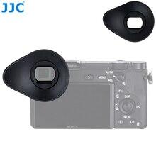 JJC silikon 360 ° dönebilen Eyecup vizör mercek Sony A6100 A6300 A6000 NEX 6 NEX 7 kamera göz fincan yerine FDA EP10