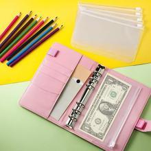 Home Budget Planner With 10Pcs Zipper Pockets Binder Diary Agenda Floppy Version Organizer Genuine Leather Journal Notepad