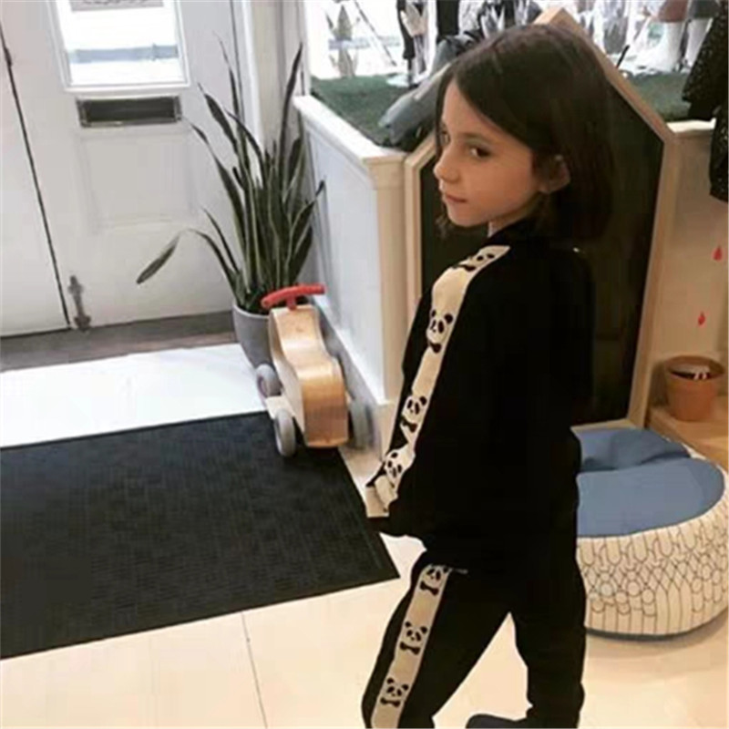 1-9Years Princess Kids Baby Girls Boys Panda Print Jacket Button Coat Outerwear Tops Clothes 5