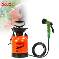 Outdoor camping shower portable bath multi function sprayer travel shower water flower wash car small sprayer