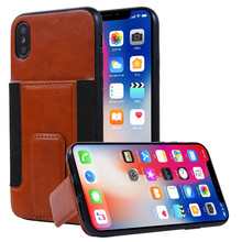 For iPhone Xs Max Xr Xs X 8 7 6s 6 Plus PU Leather Phone Back Case Cover with Card Holder+ Kickstand Bag Coque Fundas Shockproof(China)