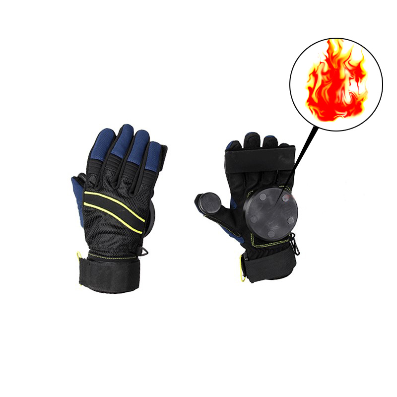 Skateboard Gloves Downhill Slide Gloves Fire Stone Flint Sparks Longboard Gloves Protective Gear/Pad Downhill Slide Gloves