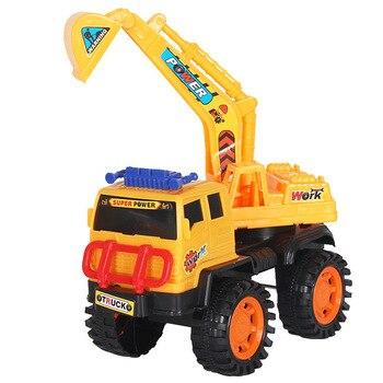 Juguete educativo para niños modelo de coche de ingeniería vehículo grúa excavadora camión mezclador niño modelo de camión de volteo deslizante
